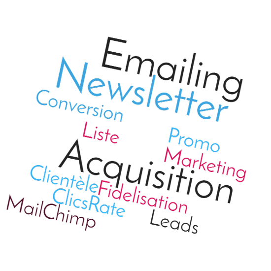 Nuage de mots email marketing