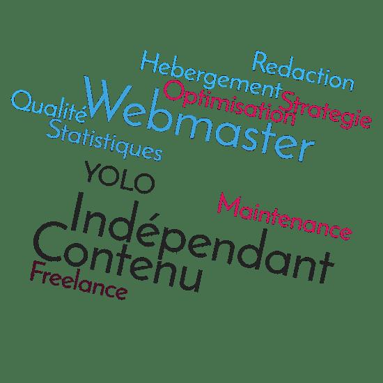 Nuages de mots Webmaster wordpress